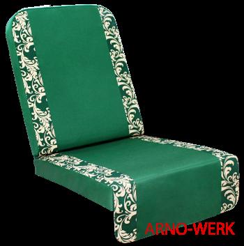 Подушка-кресло для 4-х местных качелей Оазис Люкс Плюс (Оазис Стандарт+)Зеленые